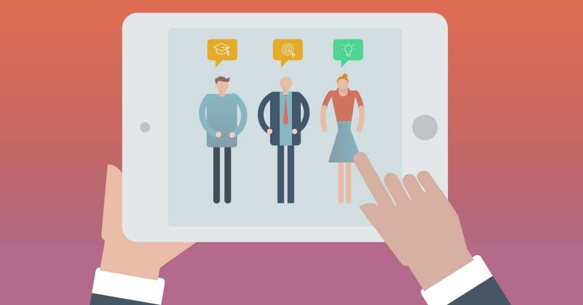 talent acquisition recruiting and selecting employees on tablet