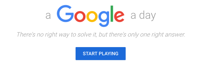 A Google a day: There's no right way to solve it, but there's only one right answer