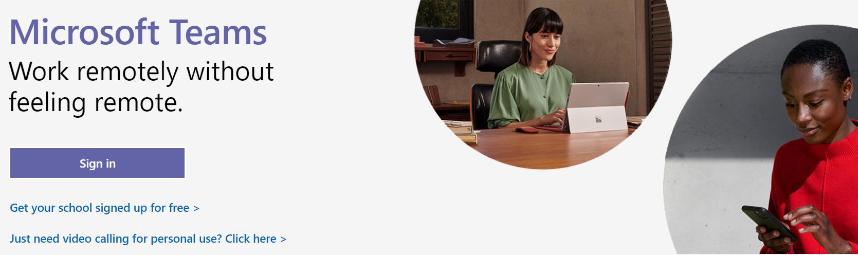 Teletrabajo con Temas de Microsoft